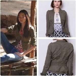 Anthro Elevenses Field Green Military Jacket